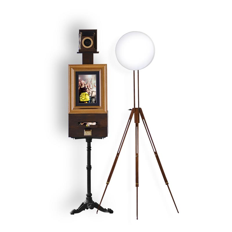 The classic Vistebooth vintage photo booth